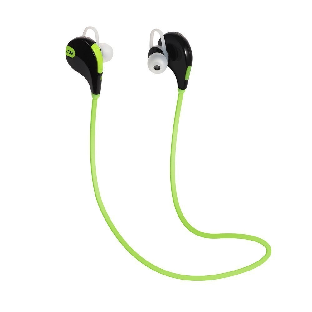 Headphone Sports Earbud HD Bass Headset Hands-Free Neckband with Mic Noise